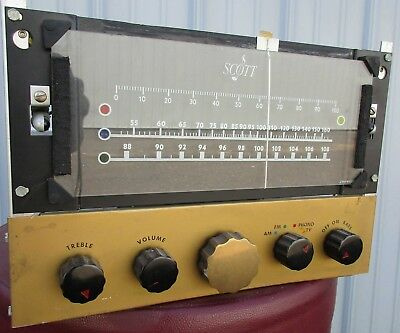 Vintage Scott 510 Tuner / Preamp Chassis - Nice!