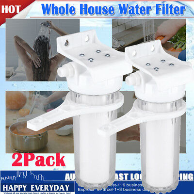 2Pack Whole Water Filter System W/ Sediment Filter Home 1/2'' Drinking Purifier