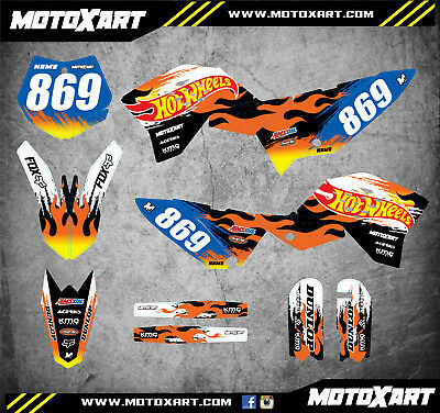 Full Custom Graphics Kit BLAZE Style stickers decals to fit KTM 65 2009 - 2015