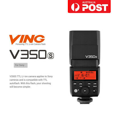 AU Godox V350S 2.4G TTL HSS Flash Speedlite With 2000mAh Battery For Sony Camera