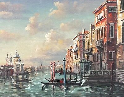 Venice Old Town  #1  8x10 100% Hand painted Oil Painting on Canvas