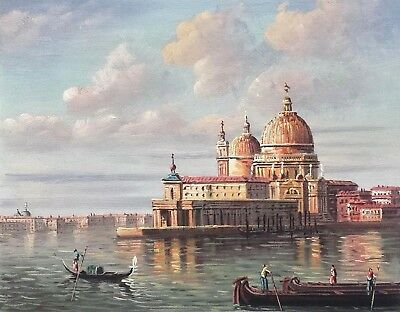 Venice Old Town  #4  8x10 100% Hand painted Oil Painting on Canvas