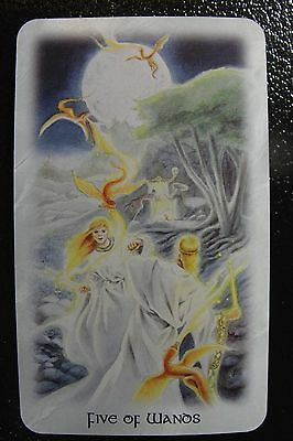 Five of Wands The Celtic Dragon Tarot Single Replacement Card Excellent