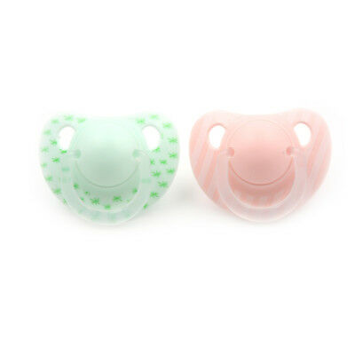 Infant Baby Supply Soft Silicone Orthodontic Pacifier Nipple Sleep SootherM&