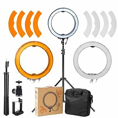 ASHANKS 12in Camera Photo/Video 240 LED MSD 5500K Ring Light Dimmable Ring Flash