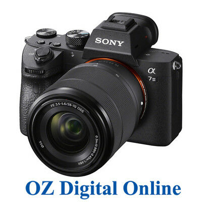 NEW Sony A7 III 28-70mm Kit Mirrorless 24MP 4K Full HD Digital Camera 1Yr Au Wty