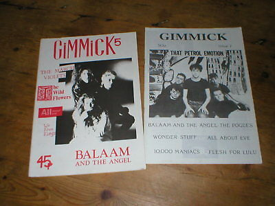 Indie fanzine GIMMICK 5 & 7 Balaam and the Angel All About Eve The March Violets
