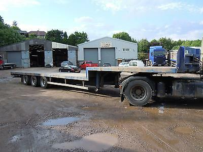 Step Frame  Flat Trailer Tri Axle On Ror Drum Brakes  2004 Mot Feb 2018