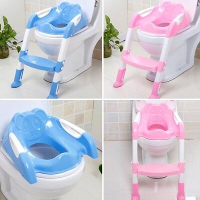 Baby Kids Child Toddler Potty Training Toilet Ladder Seat Steps Space Saving XI