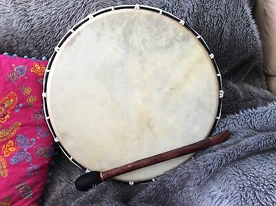 Shamanic Skin Drum - 12 Inches With Wood And Fabric Beater