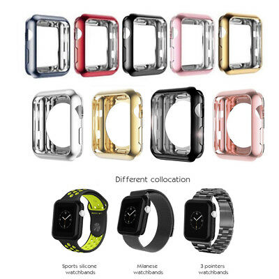 Soft TPU Protective Case Cover For Apple Watch Series 3/2/1 38/42mm Various OE