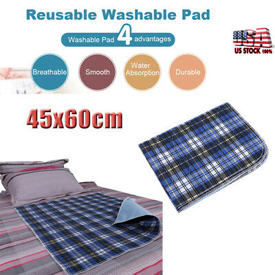 6 Premium Washable Underpads Bed Reusable Pads Waterproof Incontinence Hospital