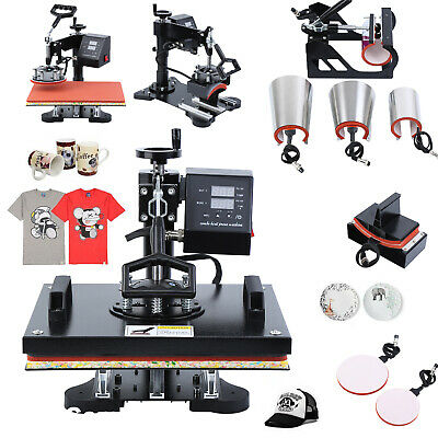8 in 1 Digital Heat Press Transfer T-Shirt Mug Hat Sublimation Printing Machine