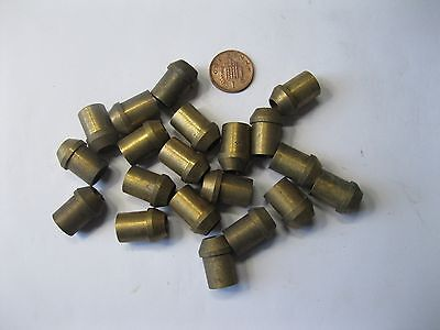 "1 - Pkt (18)  x 3/8"" Solder Type BRASS Olives, Nipples. 3/8 Tube."