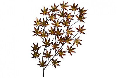 Escultura de pared de metal 'Burning Leaves' | Escultura mural 113x74x5cm
