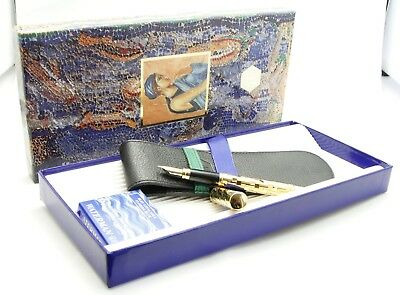 Waterman Lady Patricia Pen gold plated fascet CF with 18 k F nib 1987 NOS