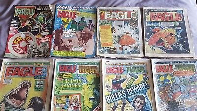 10 x Eagle / Eagle and Tiger comics from 1980s