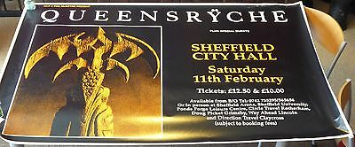 Queensryche - Very Big Tour Poster - Sheffield City Hall - Size : 156 x 104 .
