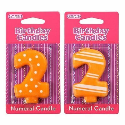 2 Number Birthday / Anniversary  Cake Candle for party decoration