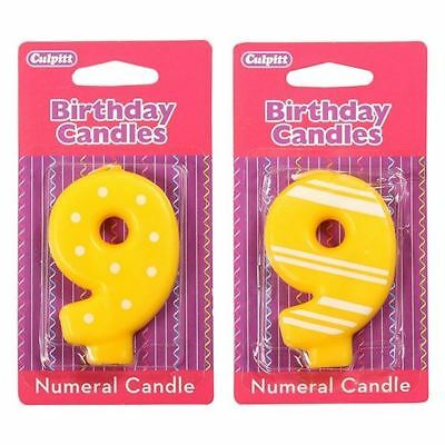 9 Number Birthday / Anniversary  Cake Candle for party decoration