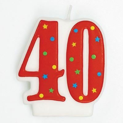 40th Birthday Cake Candle Number 18 for party decoration