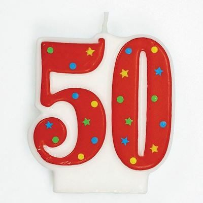 50th Birthday Cake Candle Number 18 for party decoration