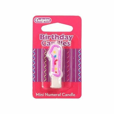 Mini Party Candle '1'  for Birthday / Anniversary  Cake Candle