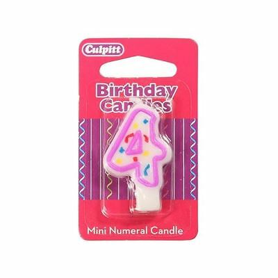 Mini Party Candle '4'  for Birthday / Anniversary  Cake Candle