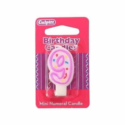 Mini Party Candle '9'  for Birthday / Anniversary  Cake Candle