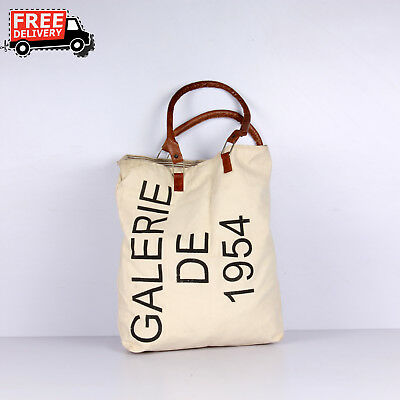 New Handcrafted Canvas Cloth Bag With Handle Casual Tote Bag Daily Use 1612