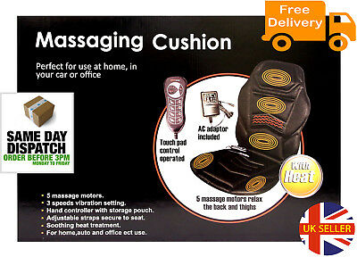 Massage Chair Heated Back Seat Massager Cushion For Car Home Van Relax Stress