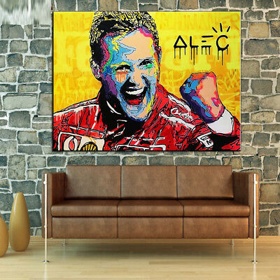 Alec Monopoly Graffiti Handcraft Oil Painting on Canvas,Michael Schumacher 28×36