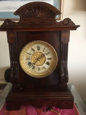 """""""BRITISH UNITED CLOCK Co."""" Mantel Clock. Refurbished Case and Serviced Recently"""