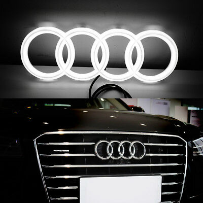 4D Illuminated Car Led Grille Logo Emblem LED Light For Audi Q3 Q5 A1 A3 A4 A6