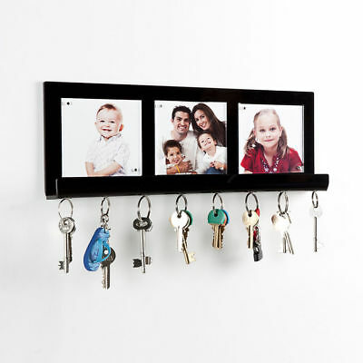 Personalised Wall Mounted Magnetic Key Holder With Photos Key Hook Hanger Letter