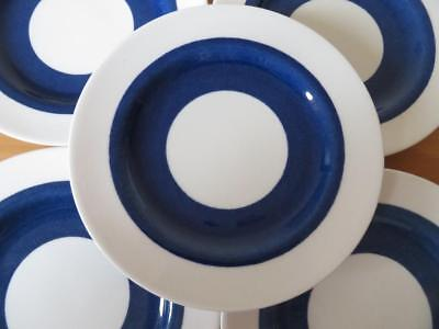 "5 x SPODE COPELANDS CHINA 6.75"" SIDE PLATES 1950s BLUE & WHITE GOOD COND"