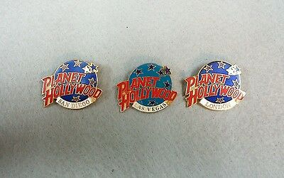 3 Planet Hollywood Collectors Pins