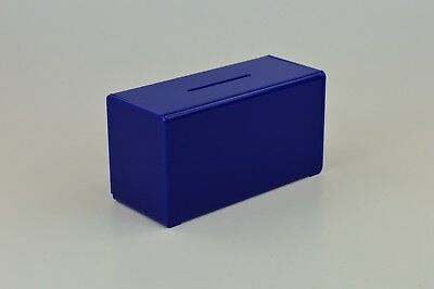 Suggestion Box / Collection Box in Acrylic PDS9458 Dark Blue