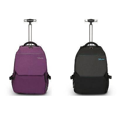 """19"""" Wheeled Rolling Trolley Backpack Large Storage Carry On Bag Travel Luggage"""