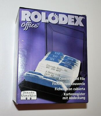 VTG Rolodex Office Covered Card File 2 1/4 by 4 Inch Cards 67093 - 1990s - NEW