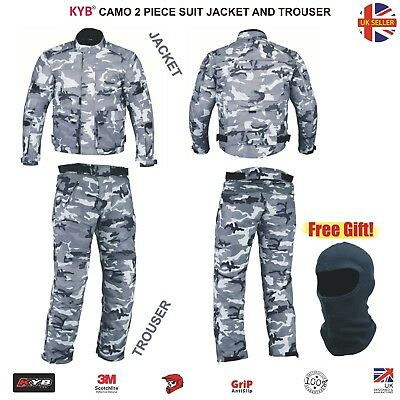 CAMO Waterproof Motorcycle Jacket Motorbike Trouser Pants Jackets Thermal 2 Suit