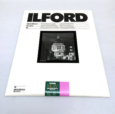 Ilford Multigrade IV FB Fiber Glossy Photographic Paper 12x16 inches 10 sheets