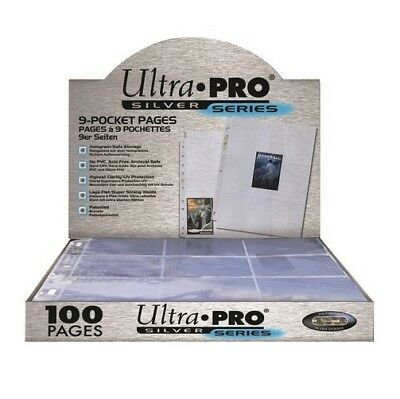 100 leaves folder ULTRA PRO SILVER for card playing standard pokemon magic