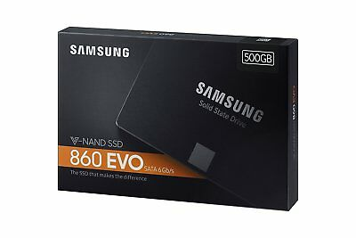 Samsung 860 EVO 500GB 2.5 Inch SATA III Internal SSD (MZ-76E500B/AM) NEW