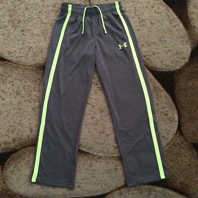 Under Armour Boys Grey Neon Yellow Athletic Sweatpants Size Youth Medium NWT