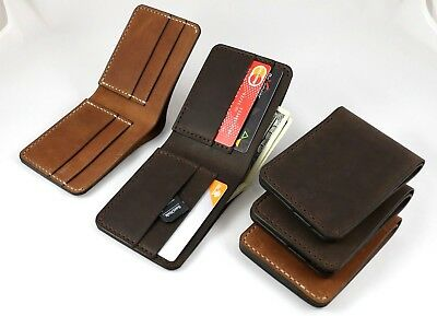 Men's Leather wallet 4 credit card slots Minimal card holder man gift for him