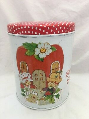 Vintage 1980 Strawberry Shortcake TIN CANISTER