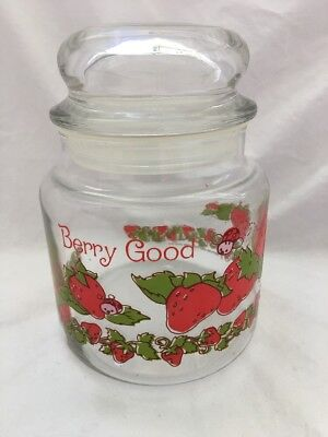 Vintage Strawberry Shortcake STORAGE Canister Candy Jar BERRY GOOD