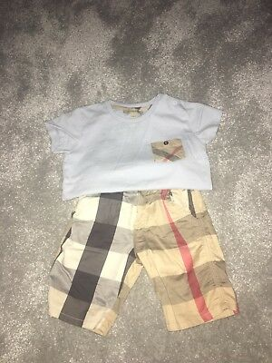 Toddler Boys Burberry Outfit Shorts T Shirt 2 Y