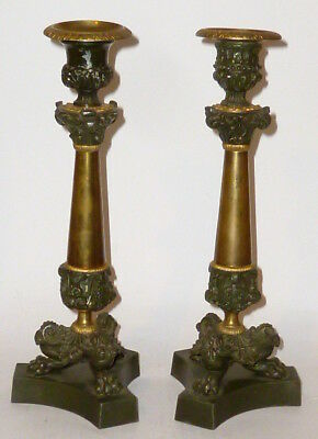 2 antique bronze bougeoir porte-bougie bougeoirs Couples Paire TOP